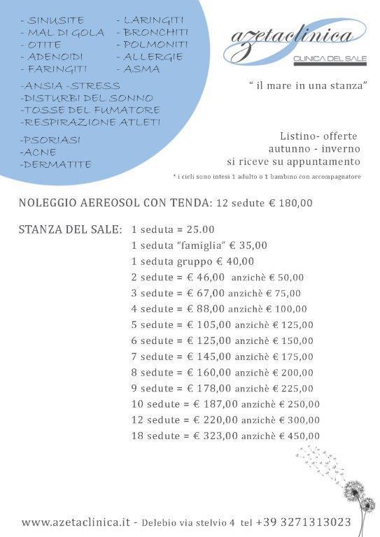 Azeta Clinica - Prezzi autunno-inverno 2018